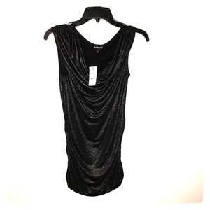 Black shimmer tank by Express